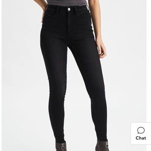 Black AMERICAN EAGLE JEGGINGS